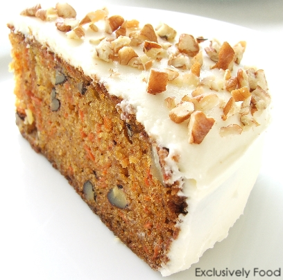 Exclusively Food Carrot Cake Recipe