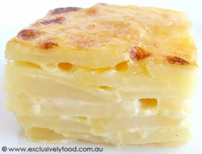 ... and rich potato bake casserole, much like what is pictured below