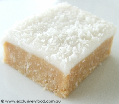 This quick and easy no-bake slice has a moist, coconutty base and a