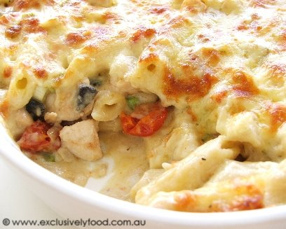 Creamy Baked Penne With Chicken And Tomatoes Recipes — Dishmaps
