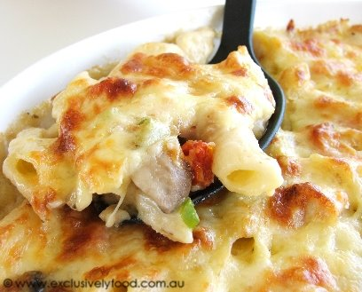 Exclusively Food: Chicken and Pasta Bake Recipe