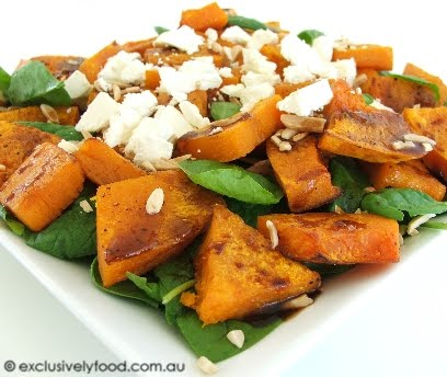 roast potatoes roast ed pumpkin salad festive roast pumpkin salad ...
