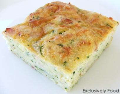 Healthy Zucchini Slice Recipe